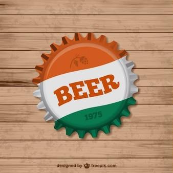 Bier dop van de fles