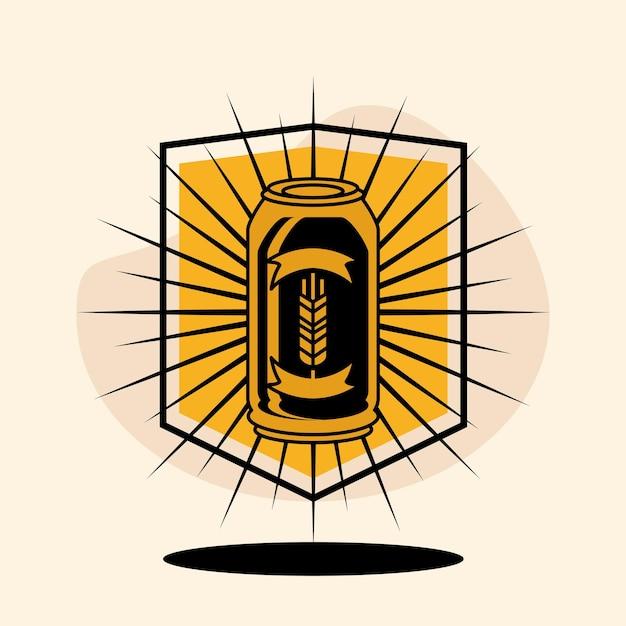 Bier embleem vintage