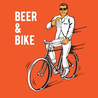 Bier en fiets