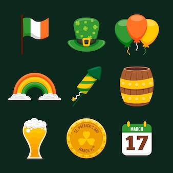 Bier en traditioneel object st. patrick's day elementen