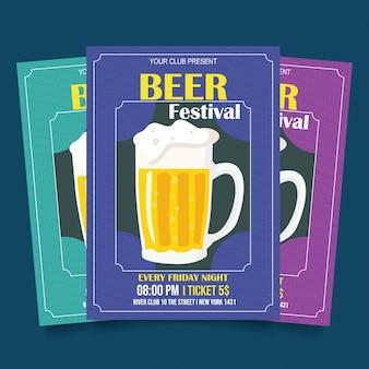 Bier festival folder sjabloon