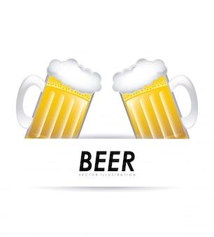 Bier grafisch ontwerp vectorillustratie