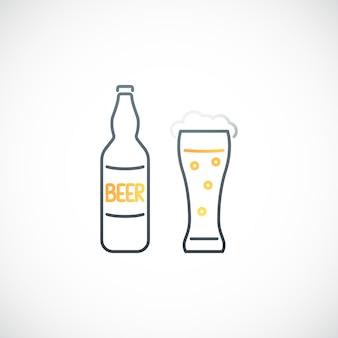 Bier lijn teken