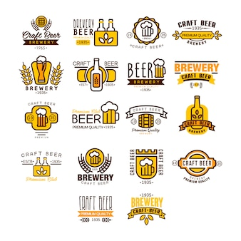 Bier logo en etiketten
