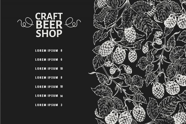 Bier menu schoolbord sjabloon