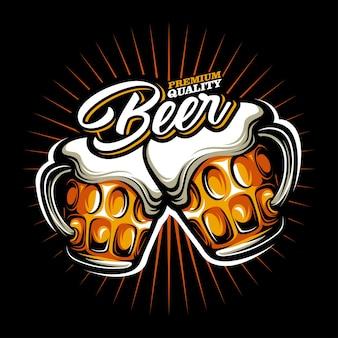 Bier mok vector
