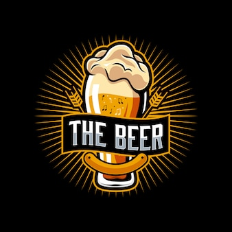 Bier muziek logo sjabloon
