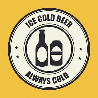 Bier ontwerp gele illustratie