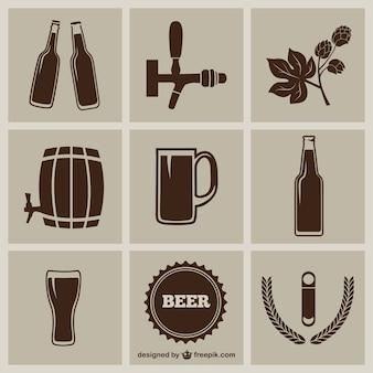 Bier pictogrammen pack