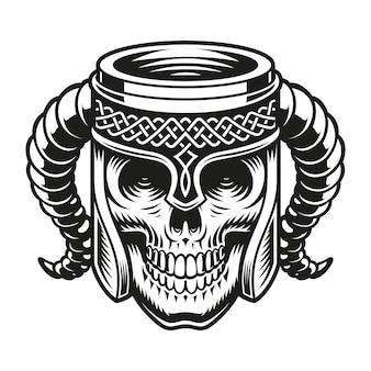 Bier schedel beker geïsoleerd op wit