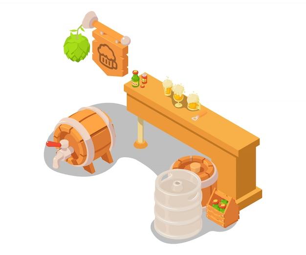 Bier stand concept scène