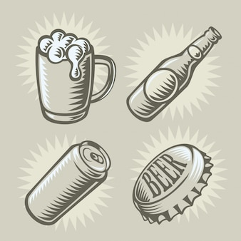 Bier thema illustratie