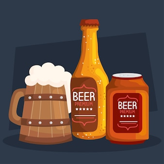 Bieren drankjes pictogrammen