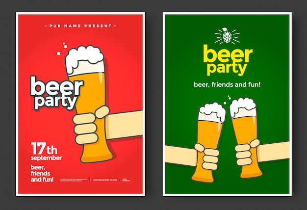 Bierfeest poster of flyer ontwerp.