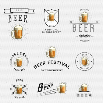 Bierfestival badges logo's en labels voor elk gebruik