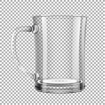 Bierglas. een leeg glas bier.