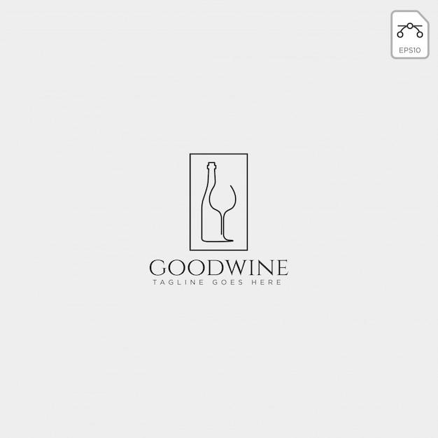 Bierglas en fles creatief logo sjabloon, pictogram element