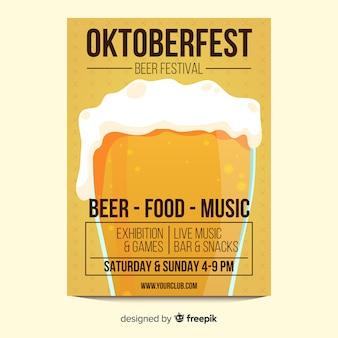 Bierglas oktoberfest poster sjabloon