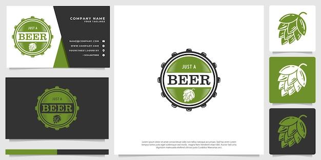 Bierlogo, met een minimalistische vintage stijl