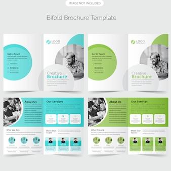 Bifold brochure template ontwerp