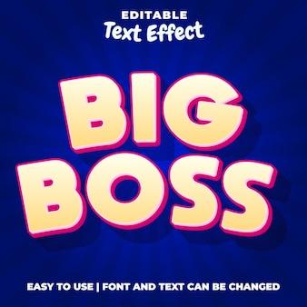Big boss-gametitel bewerkbare teksteffectstijl