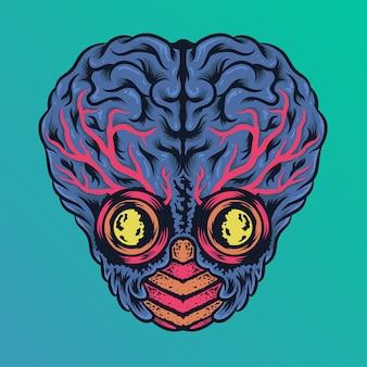 Big brain monster alien