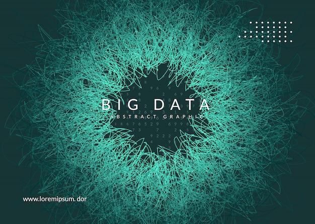 Big data-achtergrond. technologie voor visualisatie, kunstmatige intelligentie