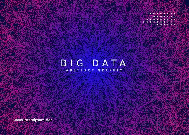 Big data-achtergrond. technologie voor visualisatie