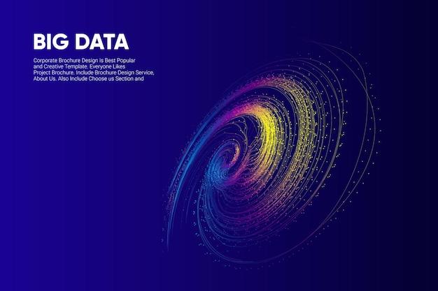 Big data-achtergrondnetwerktechnologie premium vector