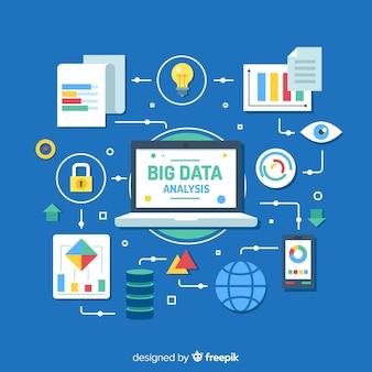 Big data achtergrondontwerp