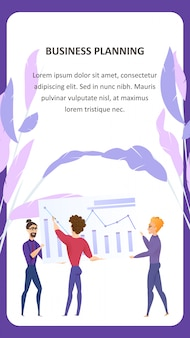 Big data-analyse grath vector mobile banner