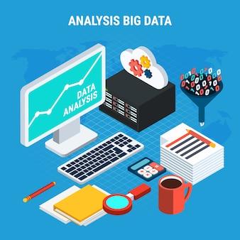 Big data-analyse isometrisch