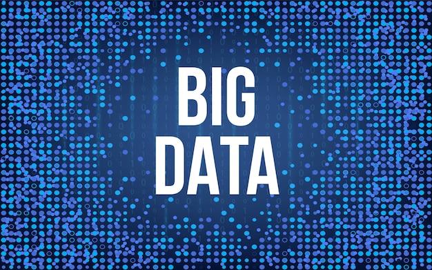 Big data-analyse van informatie-achtergrond.