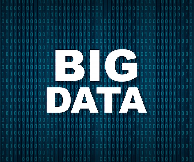 Big data-analyse van informatie.