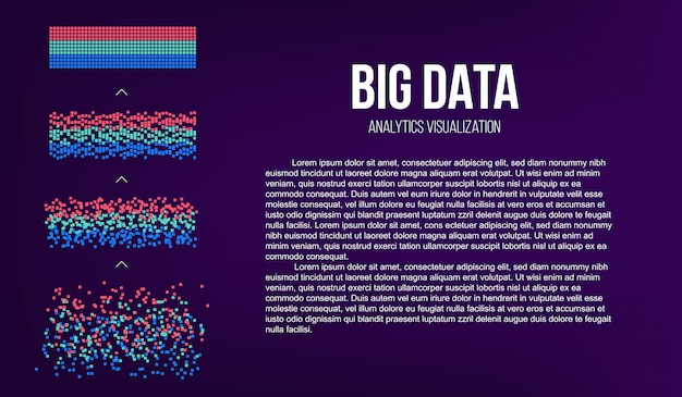 Big data analyse van informatie.