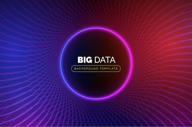 Big data business-sjabloon met abstracte cirkel