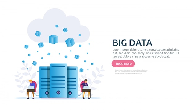 Big data cloud database analyse verwerkingsserviceconcept