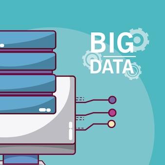 Big data-computer met databaseschijven