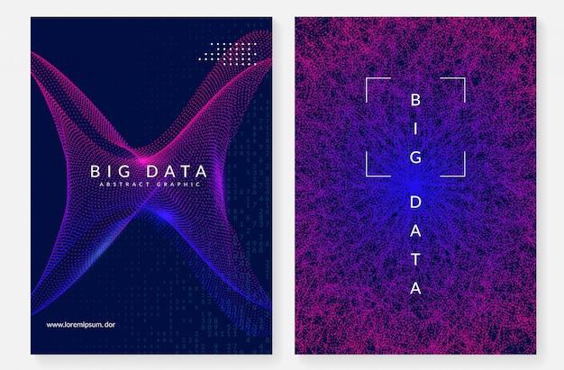 Big data cover ontwerp. technologie voor visualisatie