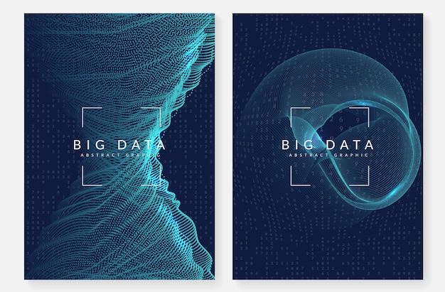 Big data dekking. digitale technologie abstract concept