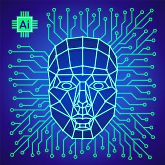 Big data en kunstmatige intelligentie concept