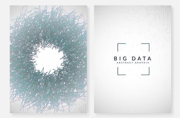 Big data leren. digitale technologie abstracte achtergrond. kunstmatige intelligentieconcept. tech visual voor communicatiesjabloon. fractal big data leren achtergrond.