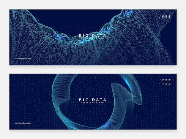 Big data leren. digitale technologie abstracte achtergrond. kunstmatige intelligentieconcept. tech visual voor interfacesjabloon. cyber big data leerachtergrond.