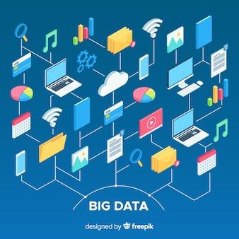 Big data-samenstelling met isometrische weergave