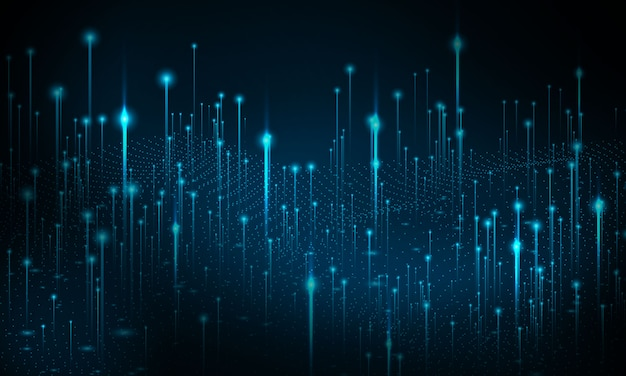 Big data technologie achtergrond. particle mist-netwerk cyberbeveiliging