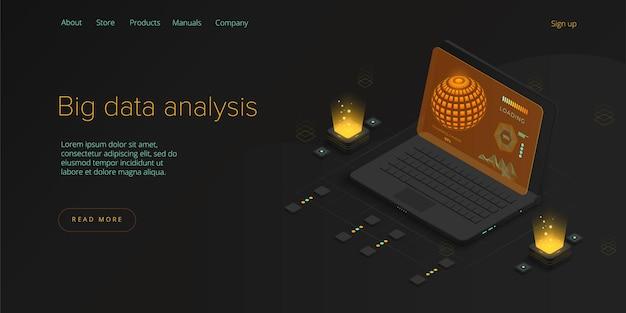 Big data-technologie. innovatief informatieopslag- en analysesysteem.