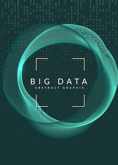 Big data. technologie, kunstmatige intelligentie, diep leren en kwantumcomputers.