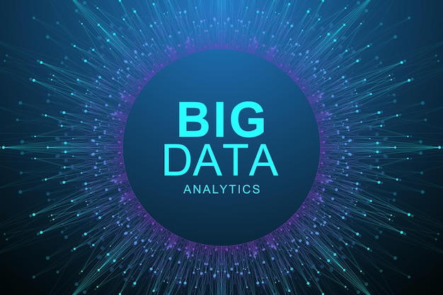 Big data visualisatie abstracte achtergrond