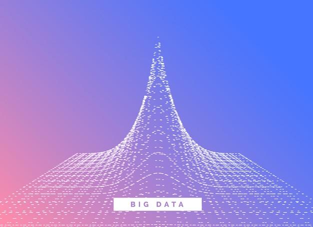 Big data visualisatie conceptontwerp vector achtergrond