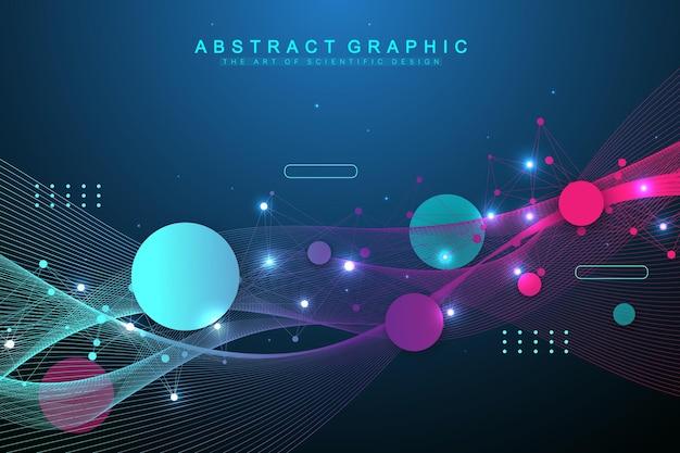 Big data visualisatie verbindingsachtergrond